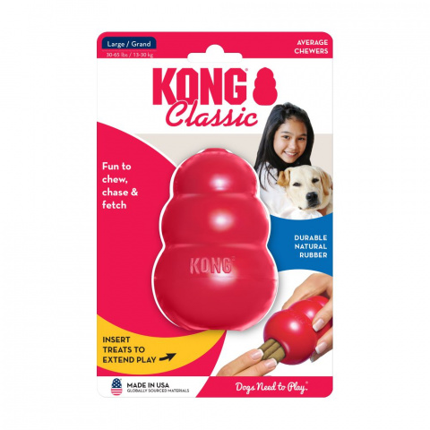 Игрушка для собак – KONG Classic, L, Red title=