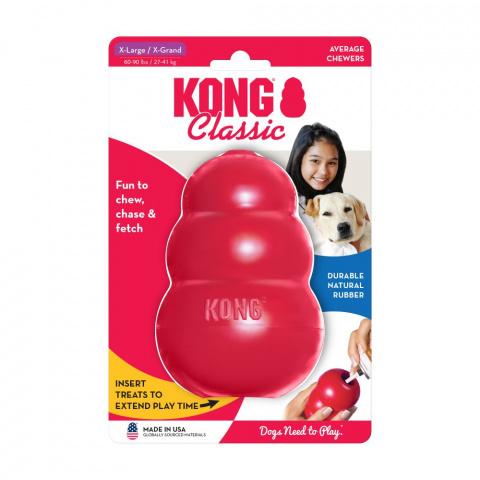 Игрушка для собак – KONG Classic, XL, Red title=