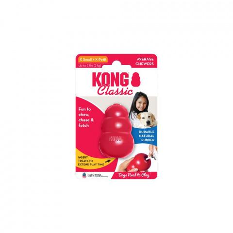 Игрушка для собак – KONG Classic, XS, Red title=