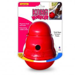 Rotaļlieta suņiem – KONG Wobbler, S, Red