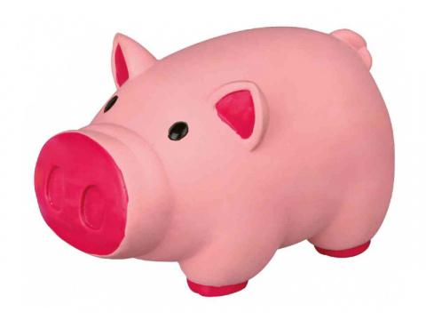 Игрушка для собак – TRIXIE Pig, animal sound, latex, 11 см title=