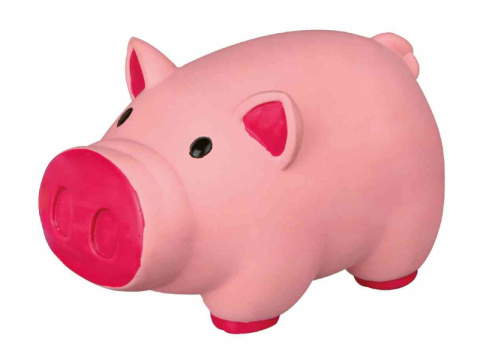 Rotaļlieta suņiem – TRIXIE Pig, animal sound, latex, 11 cm title=