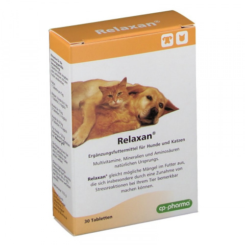 Nomierinošs līdzeklis kaķiem un suņiem - Relaxan, 30 tabletes title=