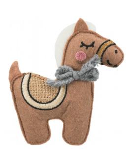 Игрушка для кошек – TRIXIE Jute/fabric Horse, catnip, 10 см