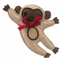 Игрушка для кошек – TRIXIE Jute/fabric Monkey, catnip, 12 см