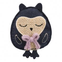 Игрушка для кошек – TRIXIE Jute/fabric Owl, catnip, 11 см