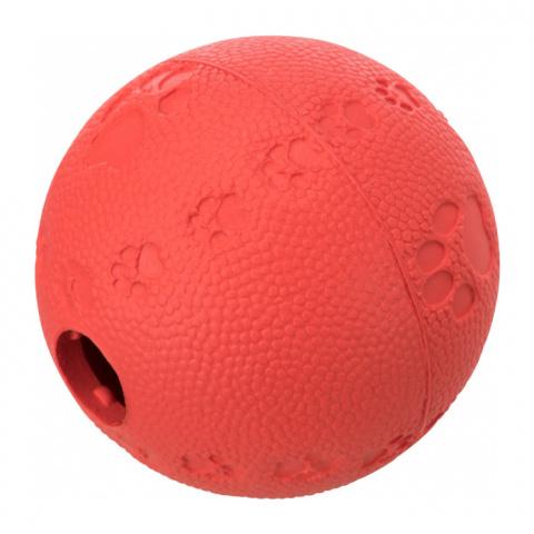 Игрушка для кошек – TRIXIE Cat Activity Snack ball, natural rubber, 6 см title=