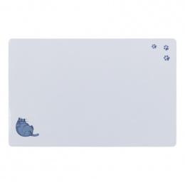 Коврик под миски – TRIXIE Place Mat fat cat/paws, 44 x 28 см, grey