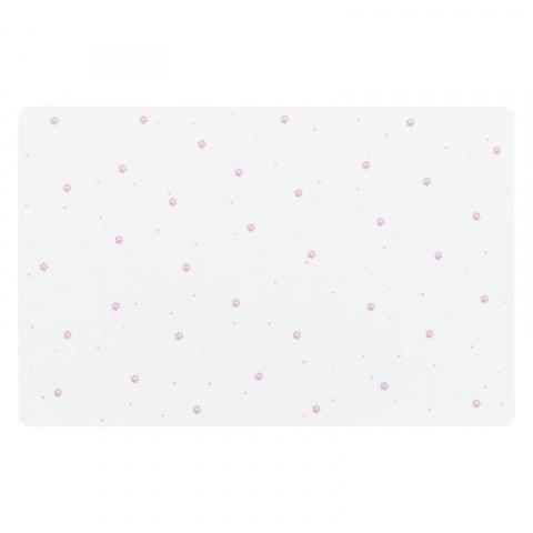 Коврик под миски – TRIXIE Place Mat paw prints, 44 x 28 см, white title=
