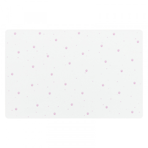 Paliktnis zem bļodām – TRIXIE Place Mat paw prints, 44 x 28 cm, white title=