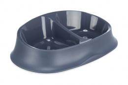 Миска для кошек – TRIXIE Double bowl, plastic/rubber ring, blue