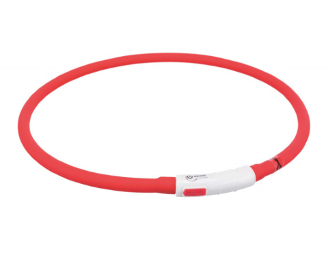 Отражающий ошейник для собак – TRIXIE Flash light ring USB, XS–XL: 70 cm, red title=