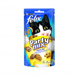 Лакомство для кошек – Felix Party Mix, Cheezy mix, 60 г