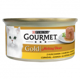 Консервы для кошек – Gourmet Gold Melting Heart Chicken, 85 г