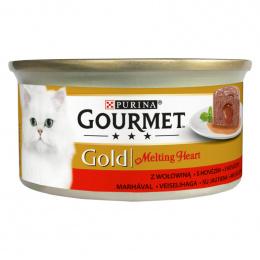 Консервы для кошек – Gourmet Gold Melting Heart Beef, 85 г