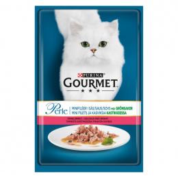 Konservi kaķiem – Gourmet Perle Trout and Spinach, 85 g