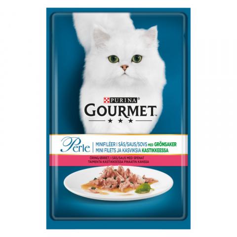 Консервы для кошек – Gourmet Perle Trout and Spinach, 85 г title=