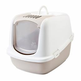 Туалет для кошек – Savic Nestor Jumbo, white-mocha, 66,5 x 48,5 x 46,5 см