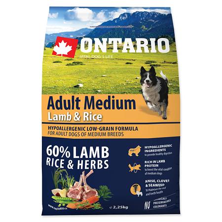 Ontario Adult Medium Lamb & Rice 2.25kg