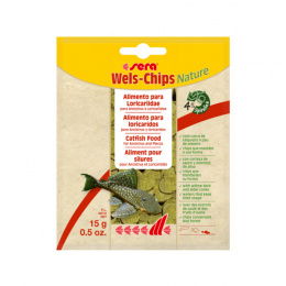 Barība zivīm – Sera Wels Chips Nature, 15 g