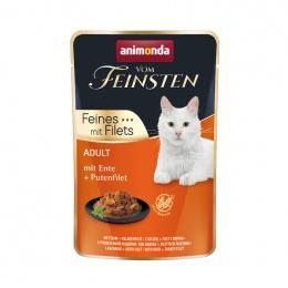 Консервы для кошек – VomFeinsten Pouch with Duck + turkey filet, 85 г
