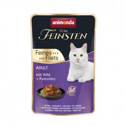 Консервы для кошек – VomFeinsten Pouch with Wild + turkey filet, 85 г