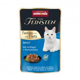 Консервы для кошек – VomFeinsten Pouch with Poultry + pollack filet, 85 г