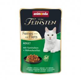Консервы для кошек – VomFeinsten Pouch with Rabbit + chicken filet, 85 г