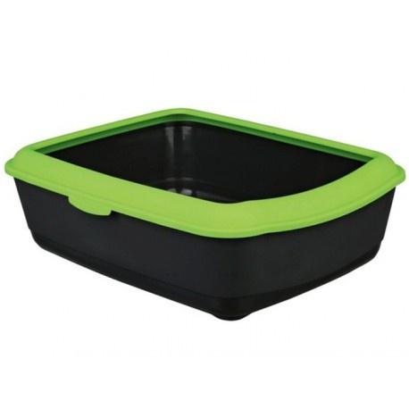 Tualete kaķiem - Trixie Classic cat litter tray with rim, pelēka/zaļa, 37*15*47cm