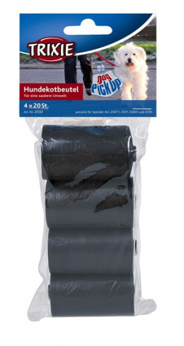 Maisiņi atkritumu savākšanai – TRIXIE Rolls Plastic Bags, 4 x 20 gab.