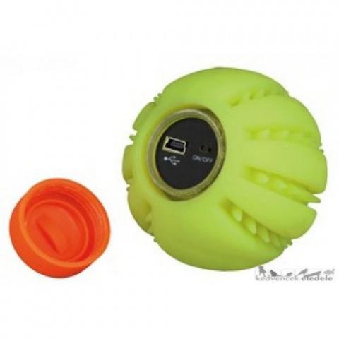 Rotaļlieta suņiem - Light ball USB, 6 cm, dzeltena