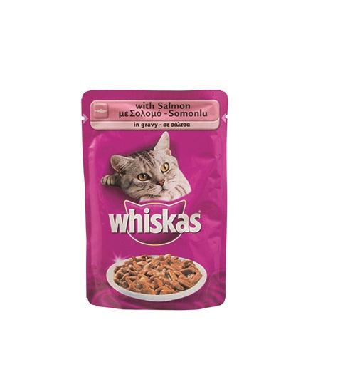 Konservi kaķiem - Whiskas Adult ar lasi, 100g