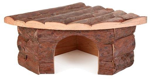 Aksesuārs grauzēju būrim - stūra māja, koka, 42*15*30/30 cm
