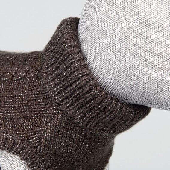 Džemperis suņiem - Langley pullover, S, 40 cm, brūna
