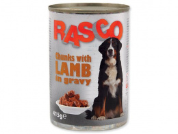 Konservi suņiem - Rasco Lamb pieces in gravy, 415g