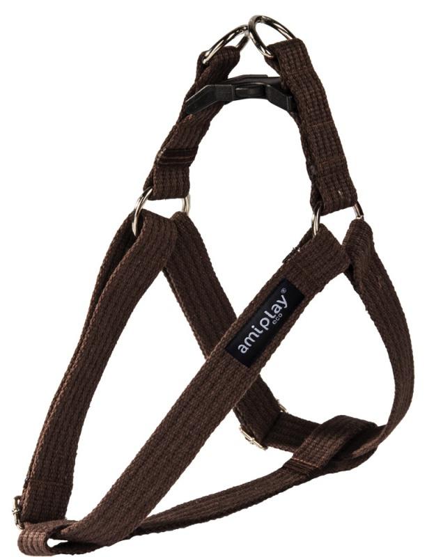 Krūšu siksna - AmiPlay Adjustable Harness Cotton L, 40-75*2.5cm, krāsa - brūna