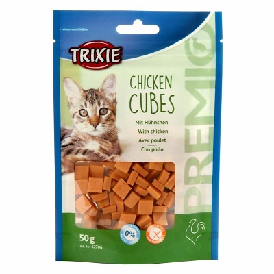 Gardums kaķiem - TRIXIE Premio Cubes Chicken, 50 g title=