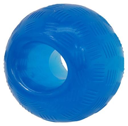 Rotaļlieta suņiem -  DogFantasy Good's Rubber Strong toy ball, 8.9cm, krāsa - zila title=