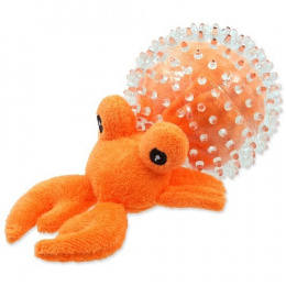 Rotaļlieta suņiem - DogFantasy Good's Toys Sea Crab in Ball, 9cm, krāsa -oranža
