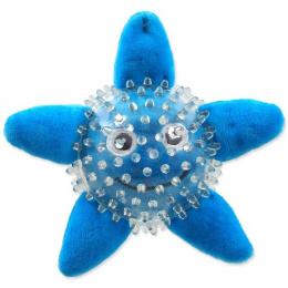 Rotaļlieta suņiem - DogFantasy Good's Toys Sea Star in Ball, 9cm, krāsa - zila