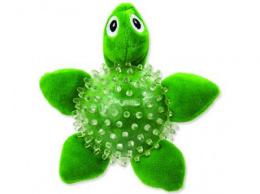 Rotaļlieta suņiem - DogFantasy Good's Toys Sea Turtle in Ball, 9cm, krāsa - zaļa