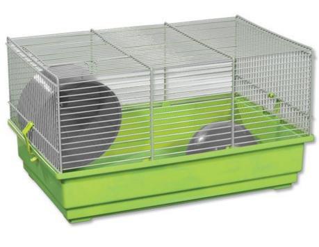 Būris grauzējiem - Small Animal Richard, 39*25.5*22 cm, zaļš/pelēks