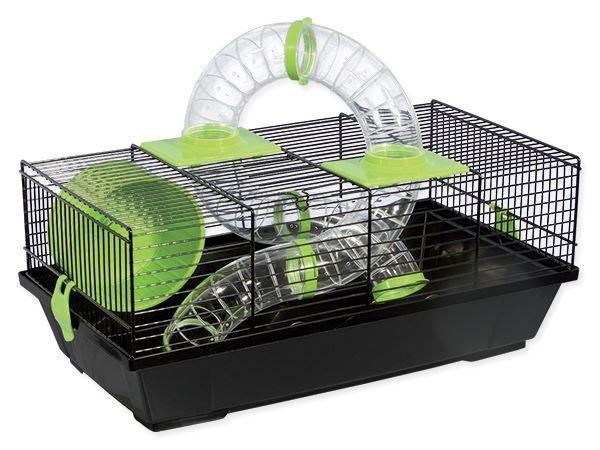 Būris pundurkāmjiem – Small Animal Libor (black/green), 50,5 x 28 x 21 cm