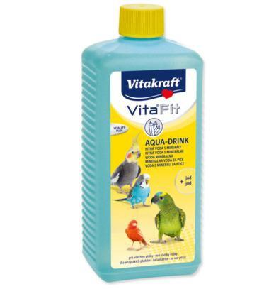 Papildbarība putniem - Vitakraft Aqua Drink whit mineral 500 ml