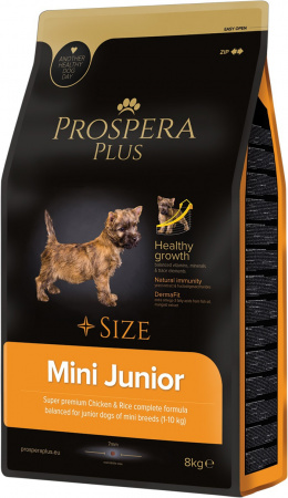 Bar­ība kucēniem - Prospera Plus Mini Junior, 8 kg