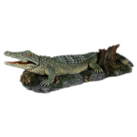 Dekors akvārijem - TRIXIE Crocodile with Air Outlet, 26 cm title=