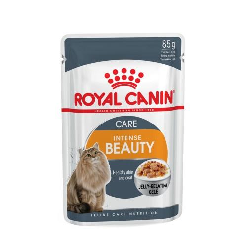 Konservi kaķiem - Royal Canin Feline Intense Beauty (želejā), 85 g