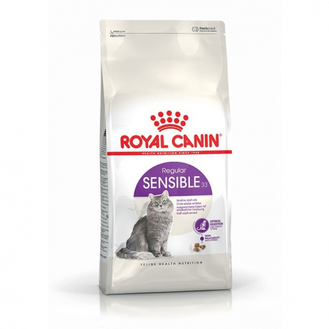 Barība kaķiem - Royal Canin Feline Sensible, 4 kg title=