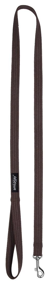 Pavada - AmiPlay Leash Cotton M, 140*2cm, krāsa - brūna