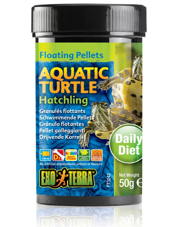 Barība rāpuļiem - Exo Terra Aquatic Turtle Food Hatchling 50 g
